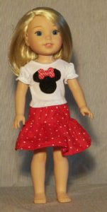 390 - WW Mouse Top & Skirt